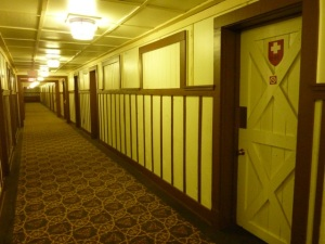 hallway in the Many Glacier Hotel