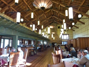 restored Ptarmigan Dining Room in the Many Glacier Hotel
