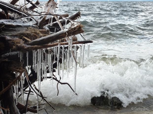glaze ice and waves