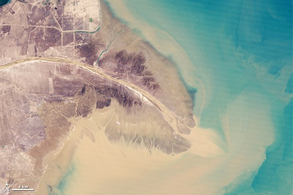 Landsat image of the Yellow River delta in 1989
