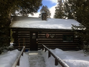 West Thumb warming hut with snow